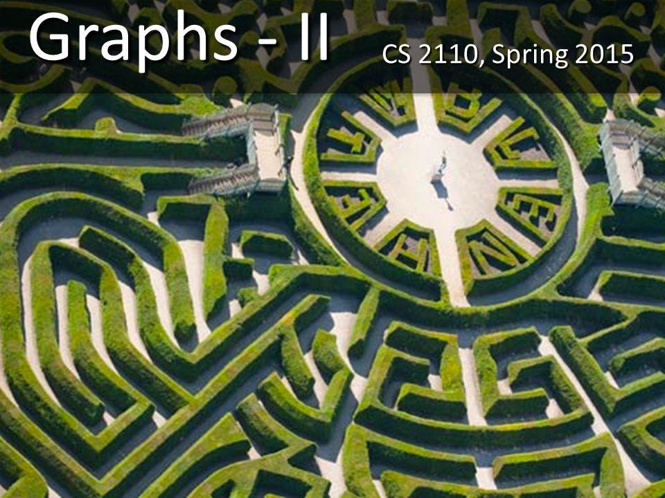 Graphs - II CS 2110, Spring 2015