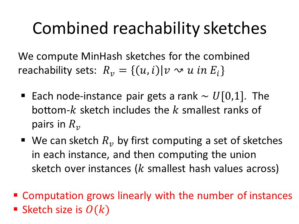 Combined reachability sketches