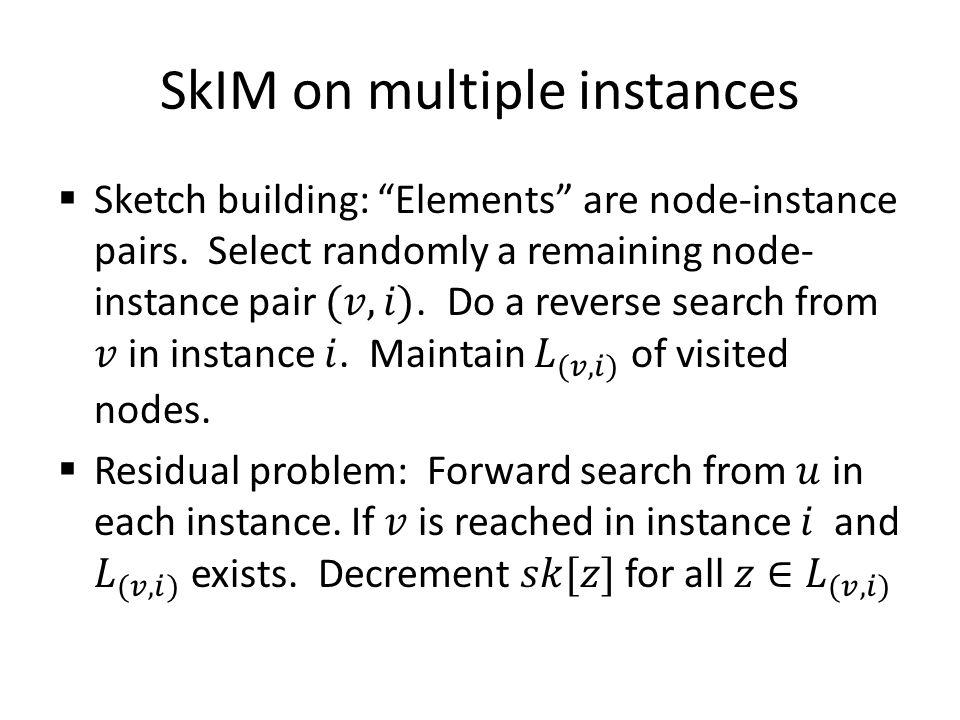 SkIM on multiple instances