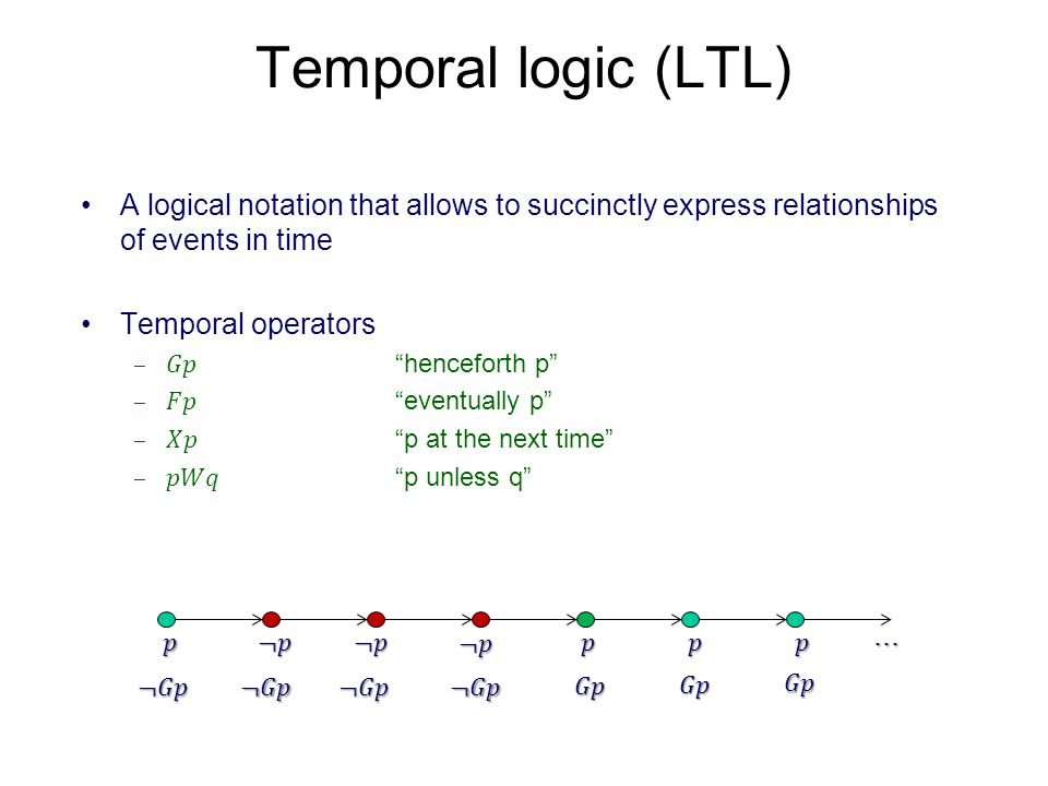 Types of temporal properties We will focus on safety properties.