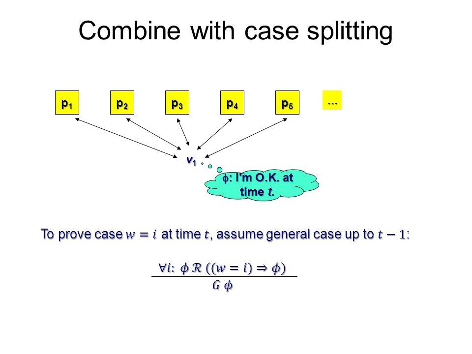 Combine with case splitting p1p1p1p1 p2p2p2p2 p3p3p3p3 p4p4p4p4 p5p5p5p5 v1v1v1v1...