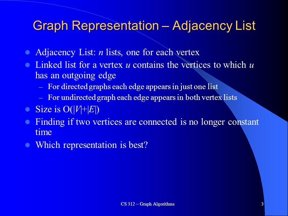 BIG TUNA CS 312 – Graph Algorithms34