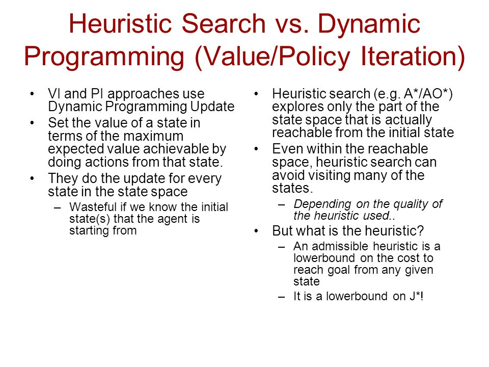 Heuristic Search vs.