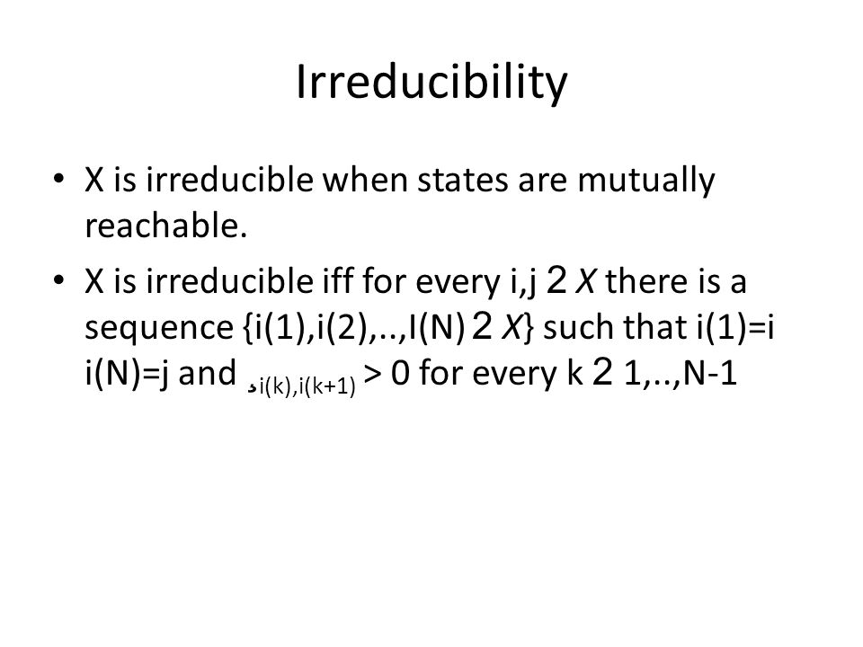 State ordering For a state (i,M) we denote i the level of the state We order states so that equal levels are gathered (i,OFF),(i,ON)(i+1,OFF)(i+1,ON)(i+2,OFF)(i+2,ON)