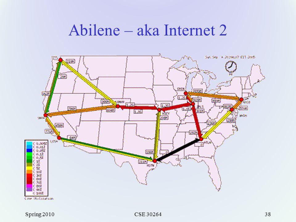 Abilene – aka Internet 2 Spring 2010CSE 3026438