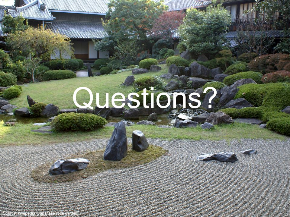 Source: Wikipedia (Japanese rock garden) Questions