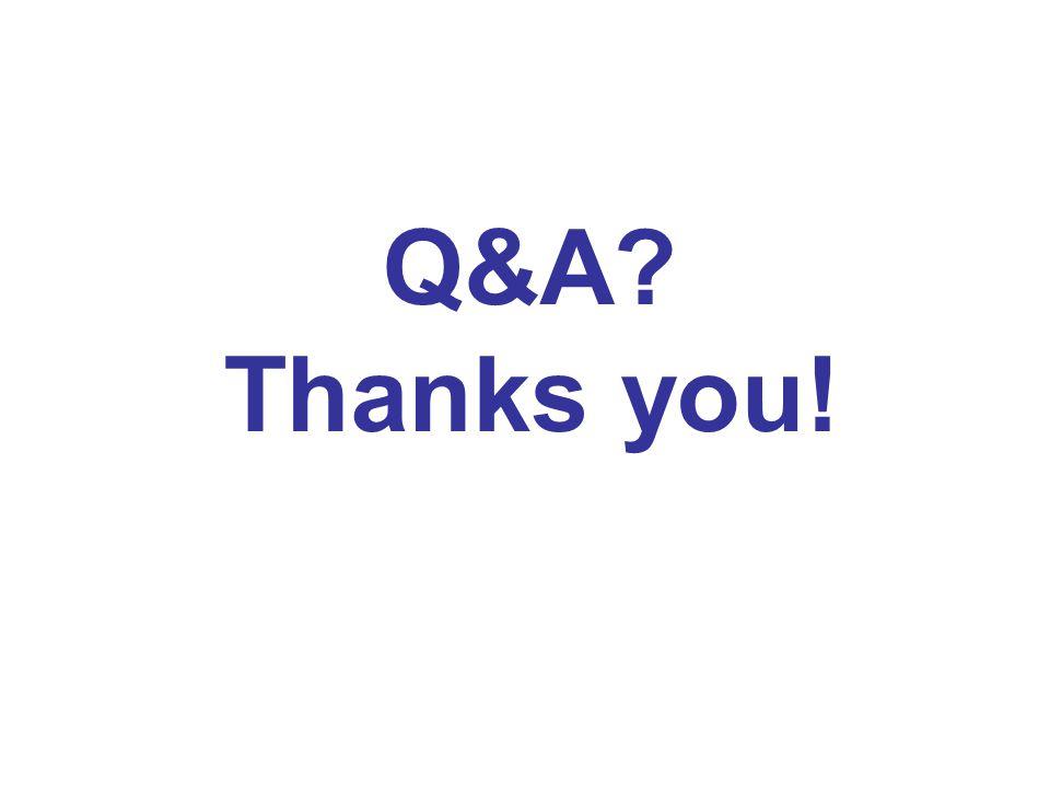 Q&A? Thanks you!