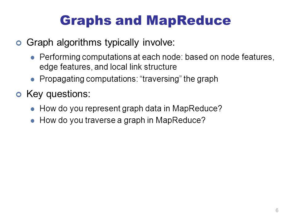 Representing Graphs G = (V, E) Two common representations Adjacency matrix Adjacency list 7
