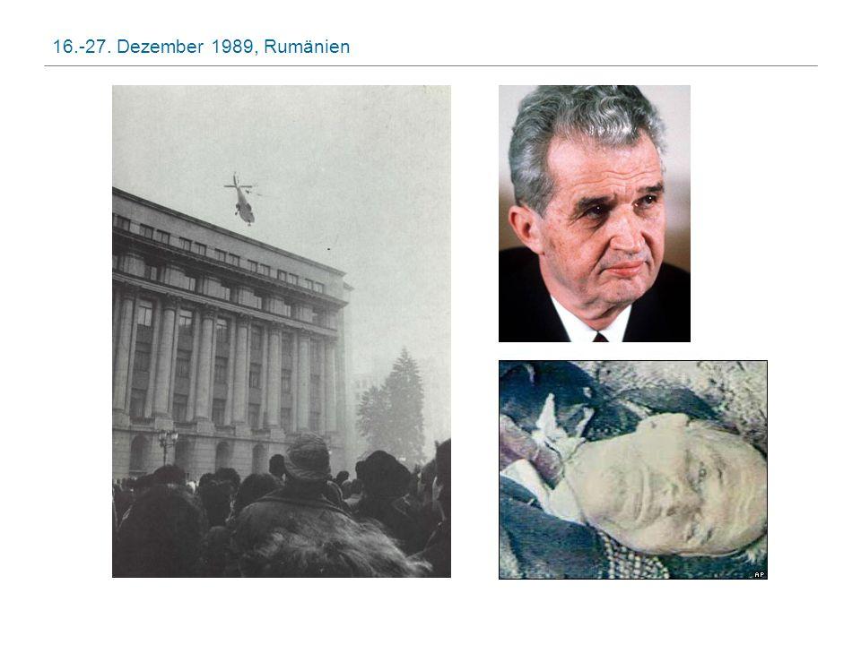 16.-27. Dezember 1989, Rumänien