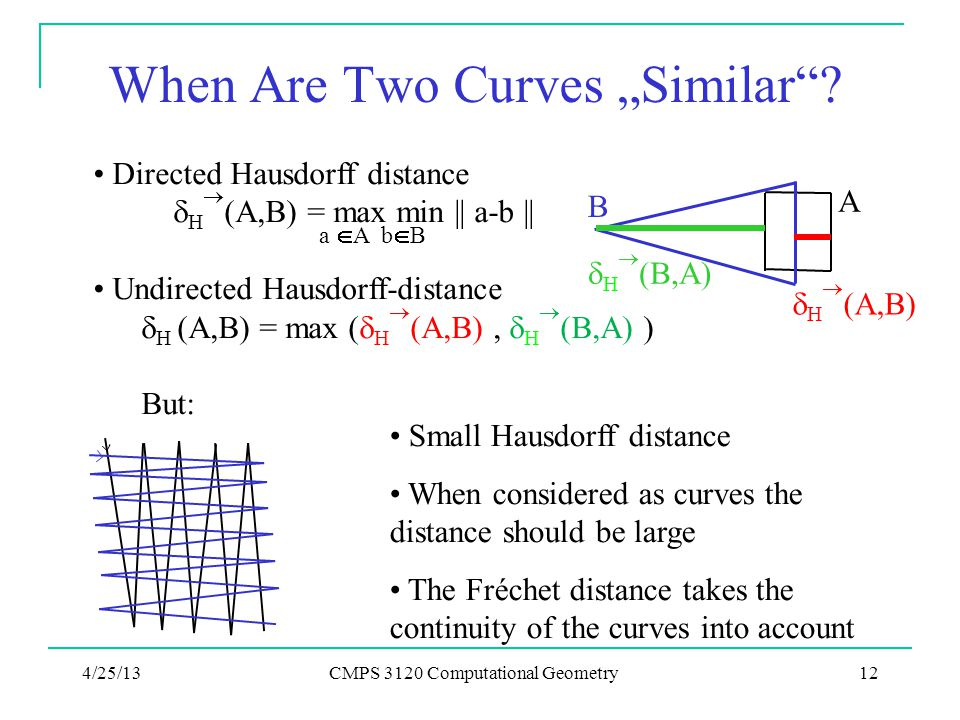 "When Are Two Curves ""Similar ."