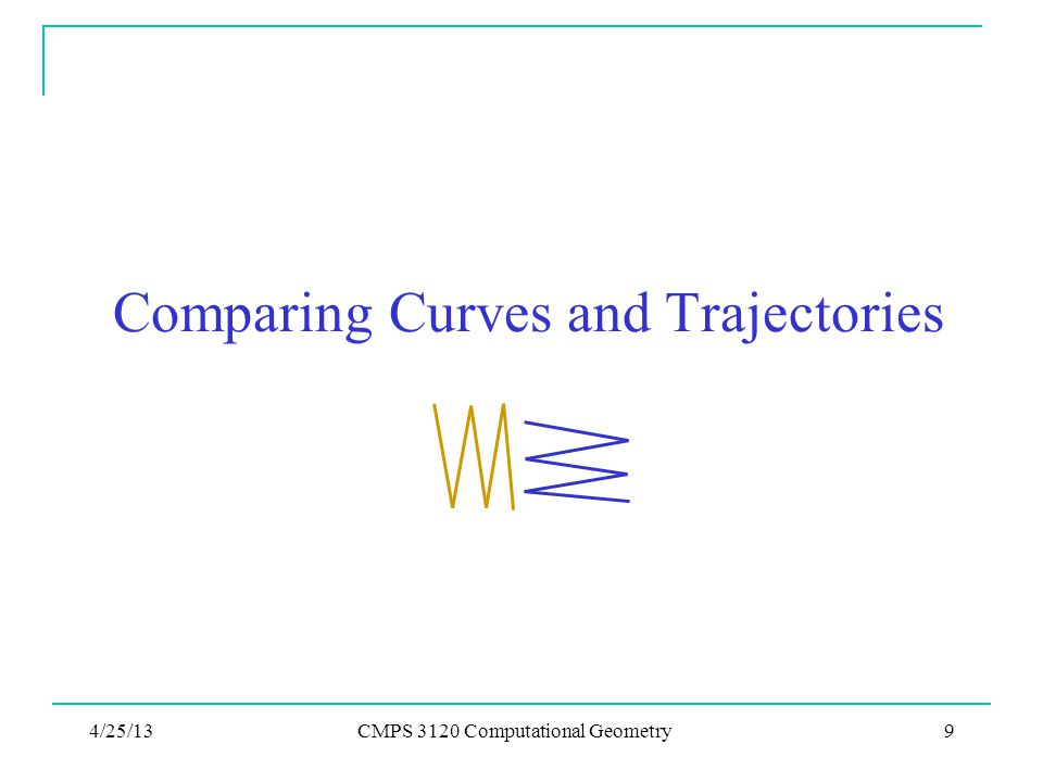 Comparing Curves and Trajectories 4/25/13CMPS 3120 Computational Geometry9