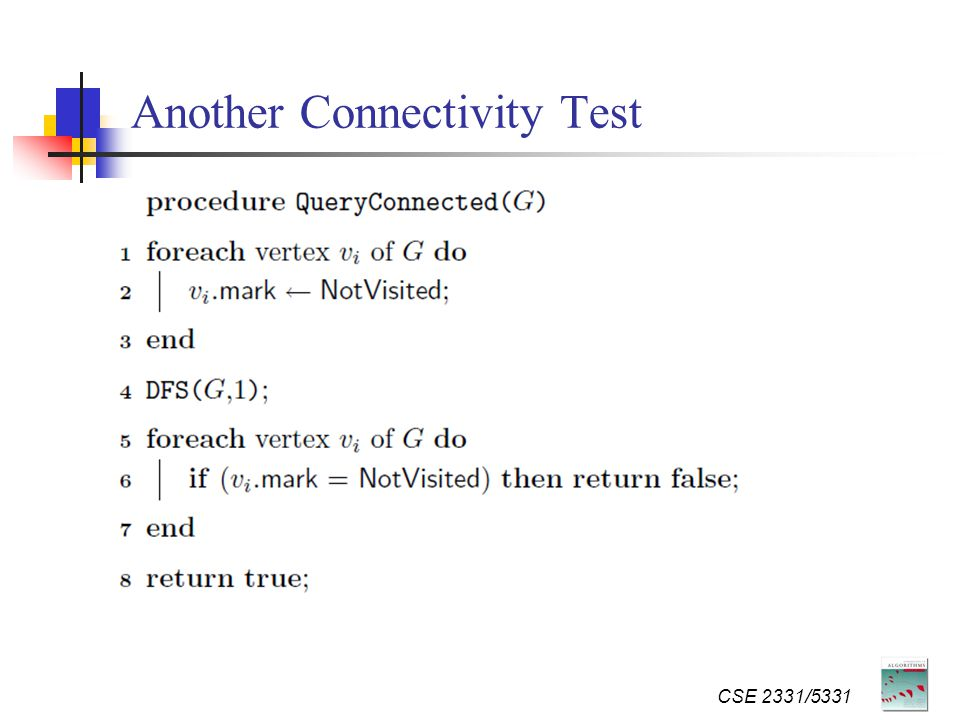 Another Connectivity Test CSE 2331/5331