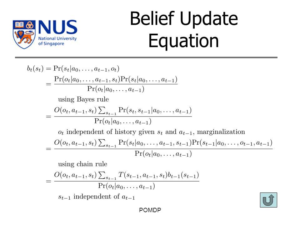 Belief Update Equation