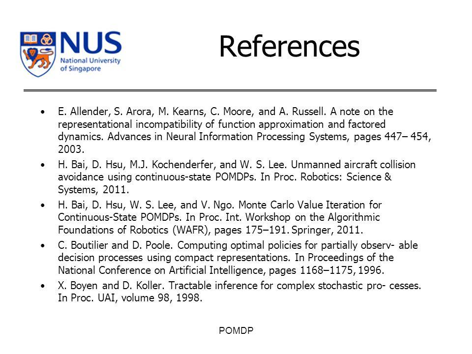 References E. Allender, S. Arora, M. Kearns, C.
