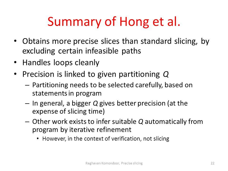 Summary of Hong et al.