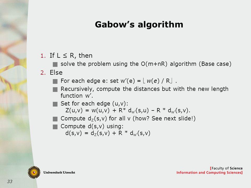 33 Gabow's algorithm 1.