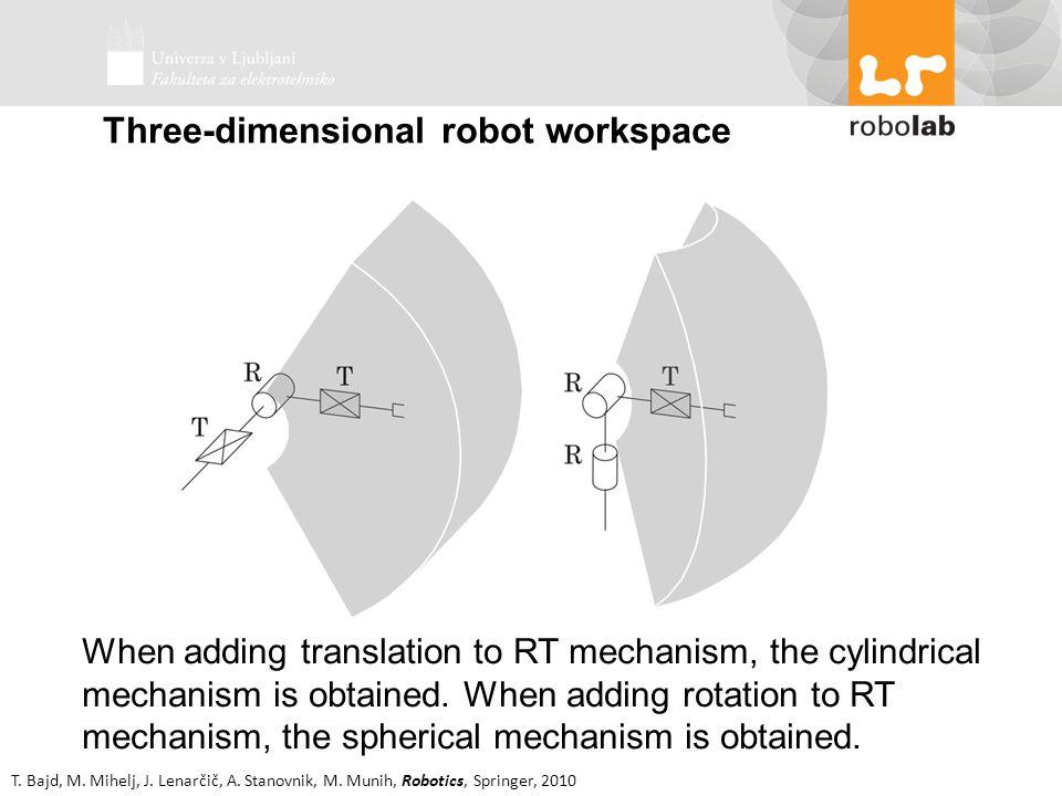 T. Bajd, M. Mihelj, J. Lenarčič, A. Stanovnik, M. Munih, Robotics, Springer, 2010 When adding translation to RT mechanism, the cylindrical mechanism i