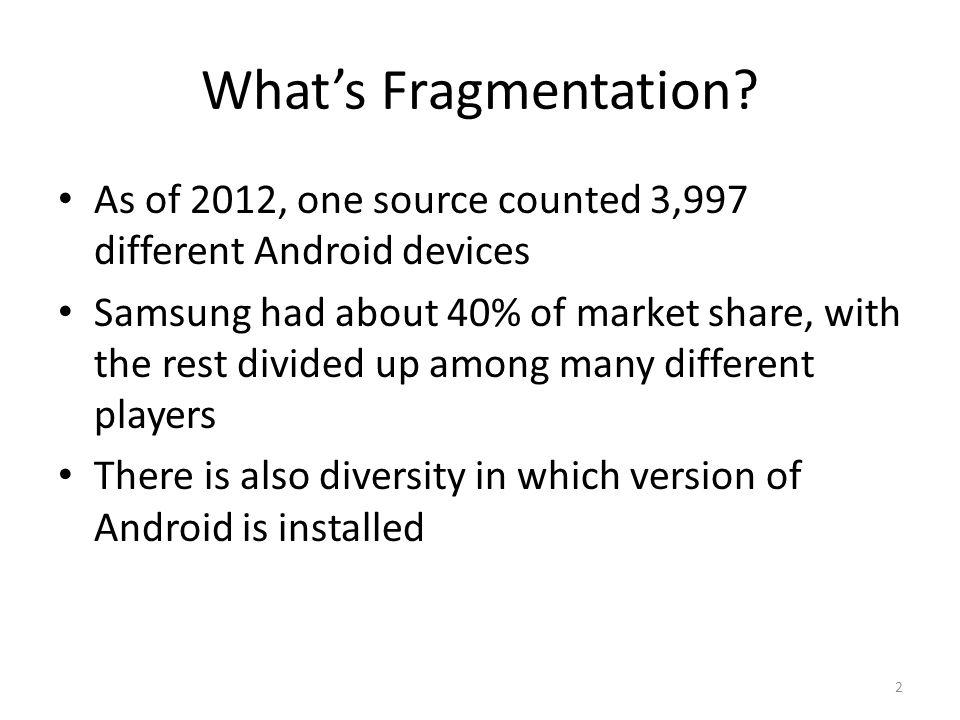 What's Fragmentation.