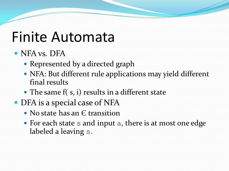 Finite Automata NFA vs.