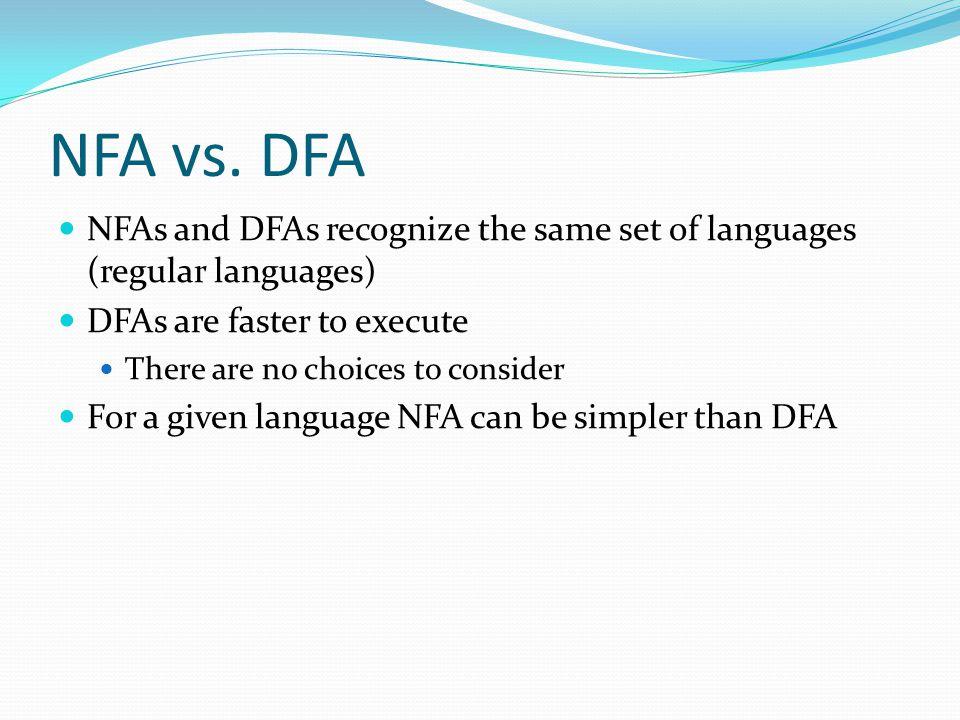 NFA vs.