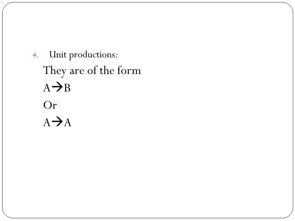 1) Unreachable Variables E.g.: S  BS|B|E A  DA|D|S B  CB|C C  aC|a D  bD|b E  cE|c