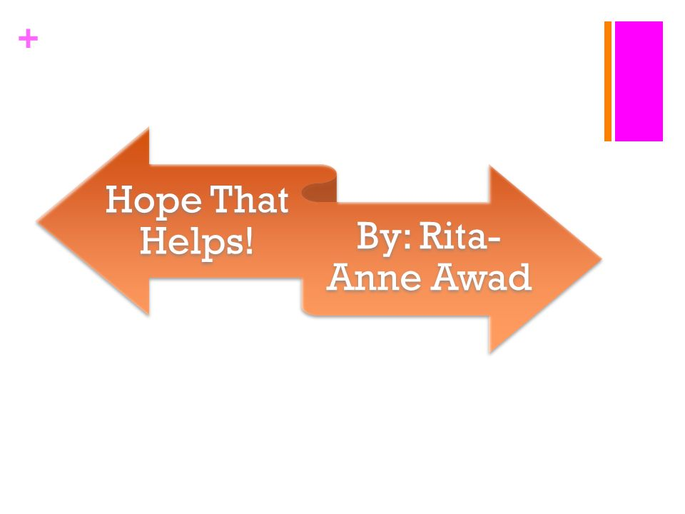 + Hope That Helps! By: Rita- Anne Awad