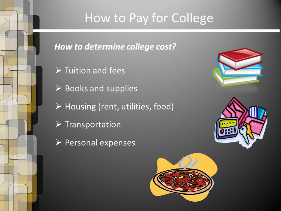 How to Pay for College How to determine college cost.