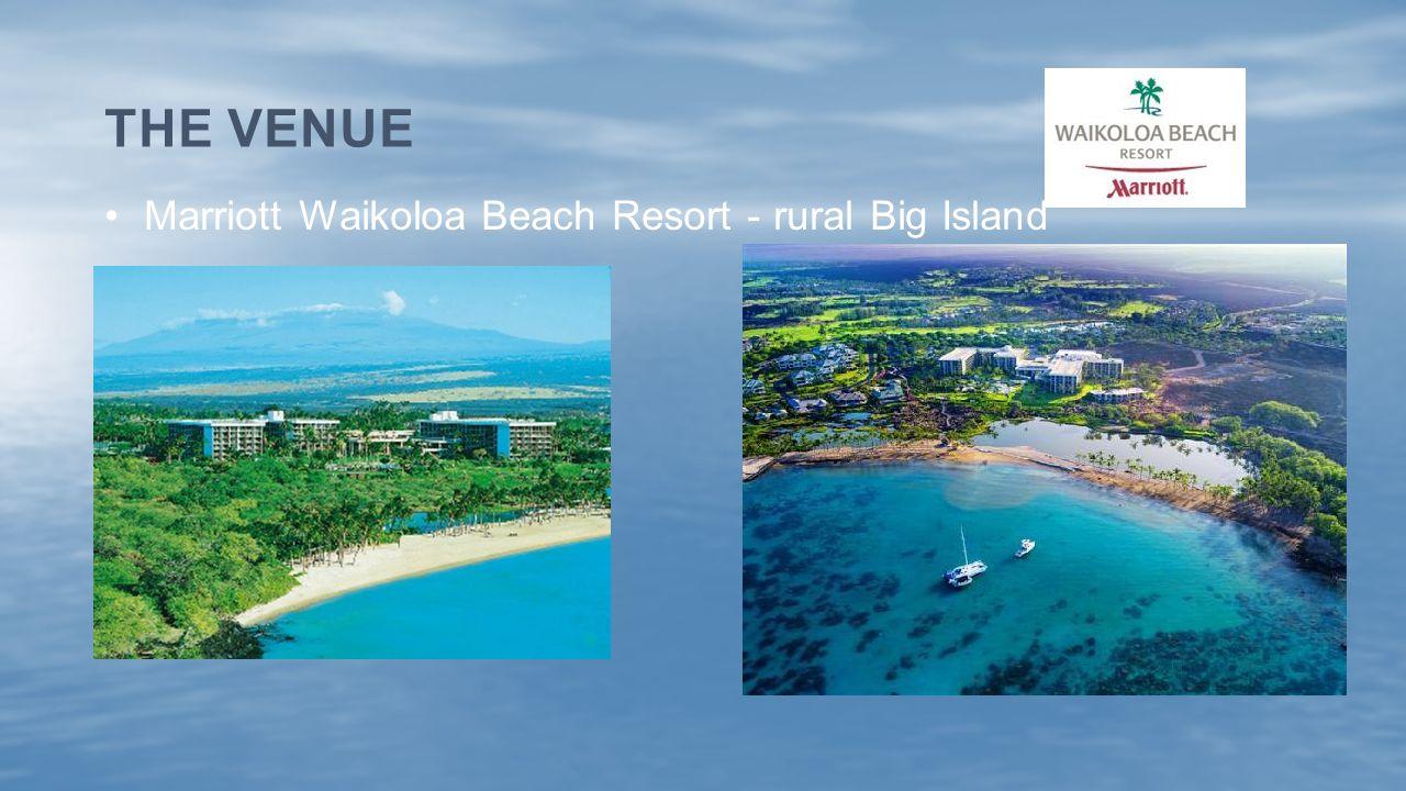 Marriott Waikoloa Beach Resort - rural Big Island THE VENUE