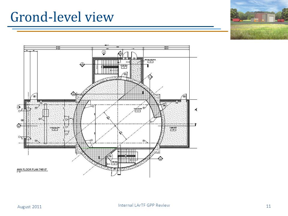 Grond-level view August 2011 Internal LArTF GPP Review 11