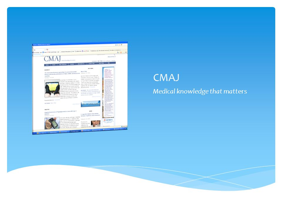 CMAJ Medical knowledge that matters