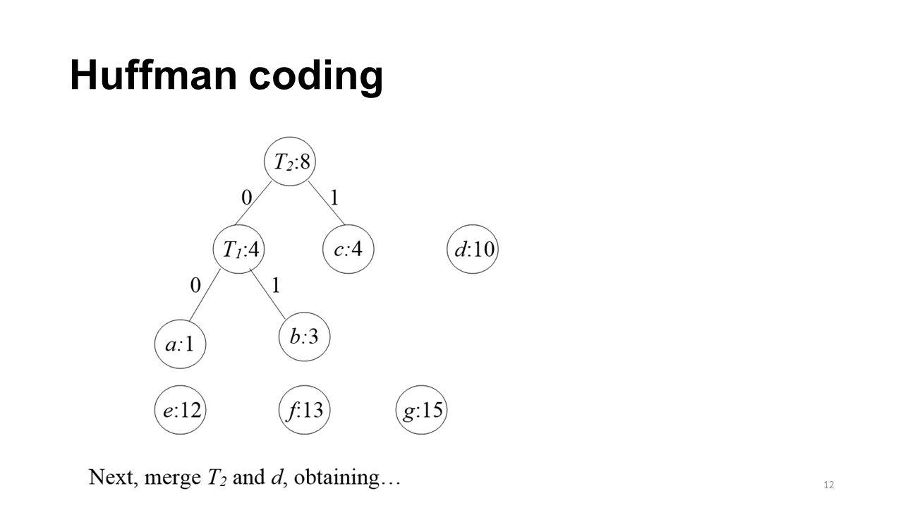 Huffman coding 12