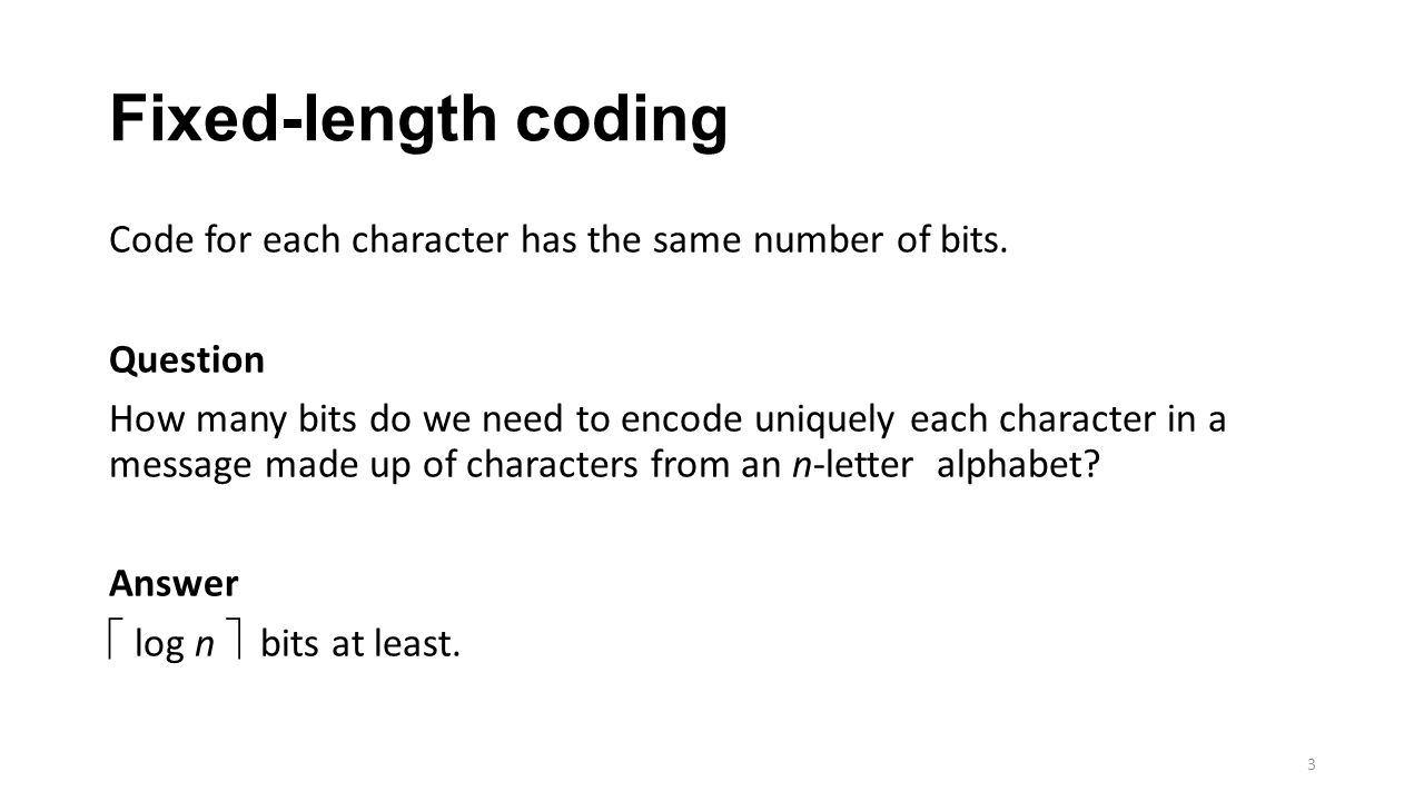 Variable-length coding 4