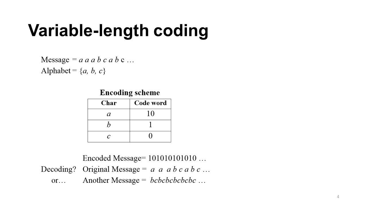 Another encoding scheme 5