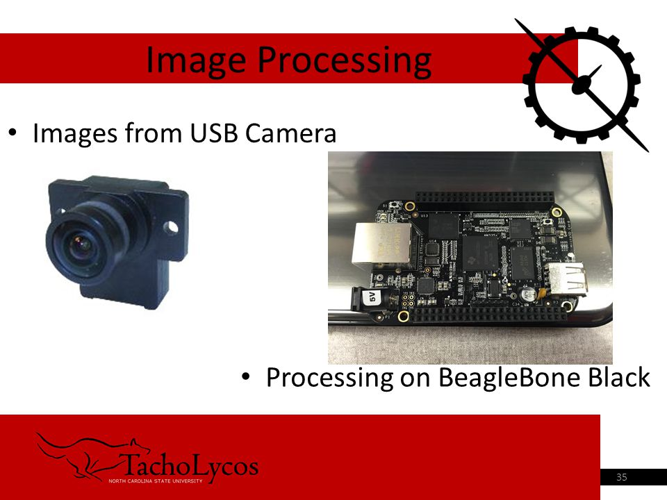 Images from USB Camera Image Processing 35 Processing on BeagleBone Black