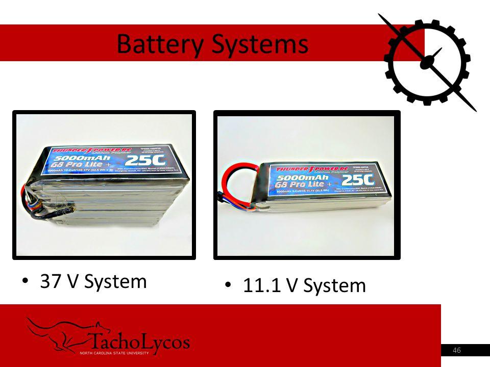 37 V System Battery Systems 46 11.1 V System