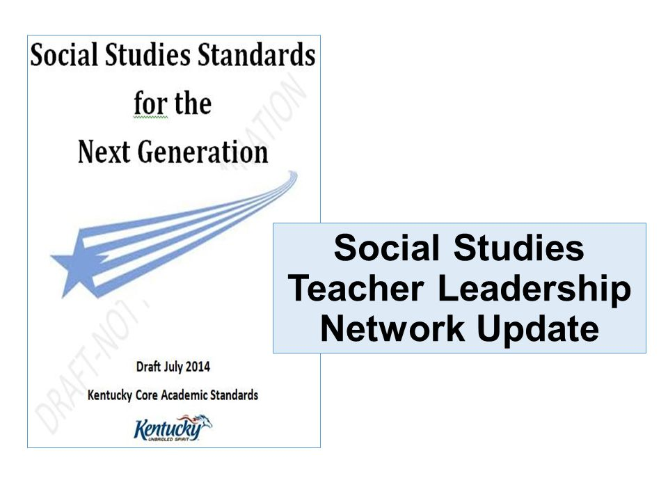 Social Studies Teacher Leadership Network Update