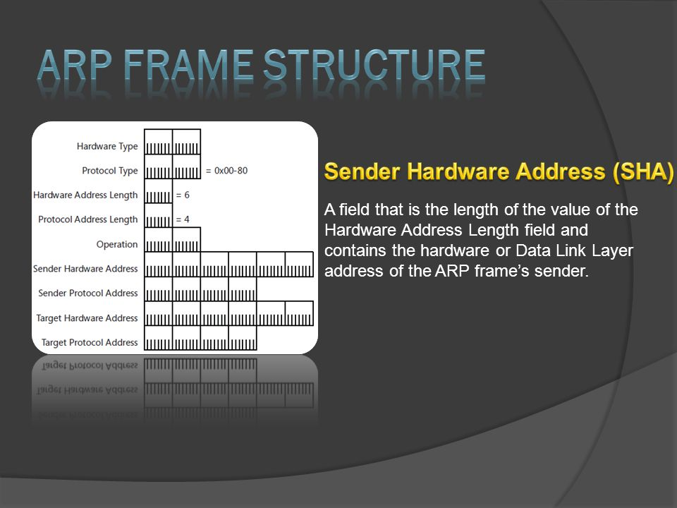 A field that is the length of the value of the Hardware Address Length field and contains the hardware or Data Link Layer address of the ARP frame's s