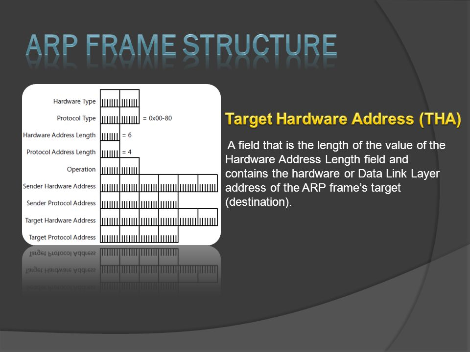 A field that is the length of the value of the Hardware Address Length field and contains the hardware or Data Link Layer address of the ARP frame's t