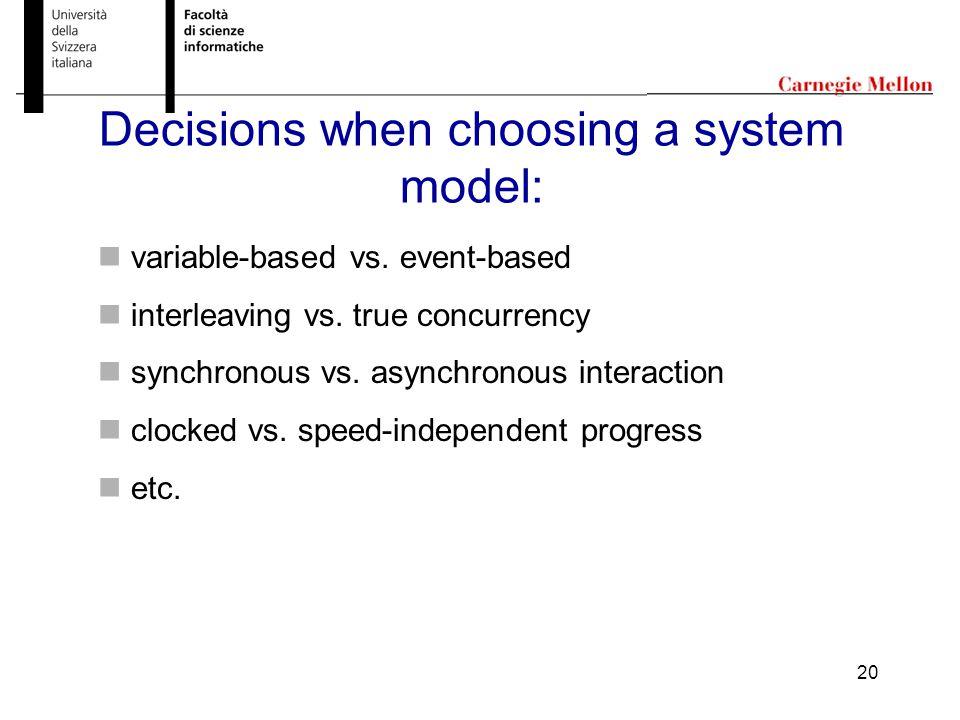 20 variable-based vs. event-based interleaving vs.