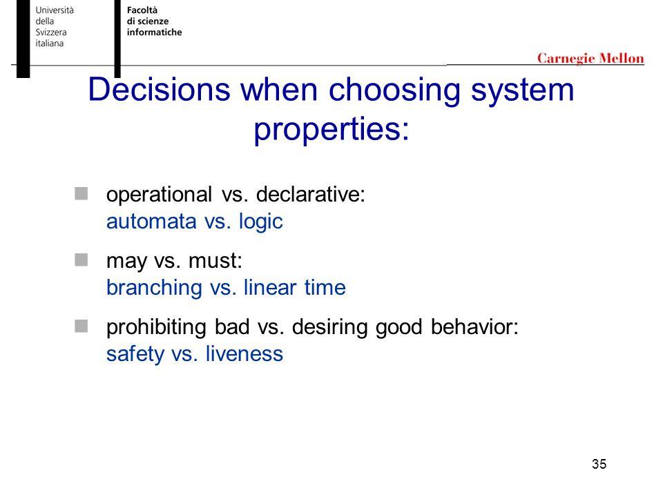 35 operational vs. declarative: automata vs. logic may vs.