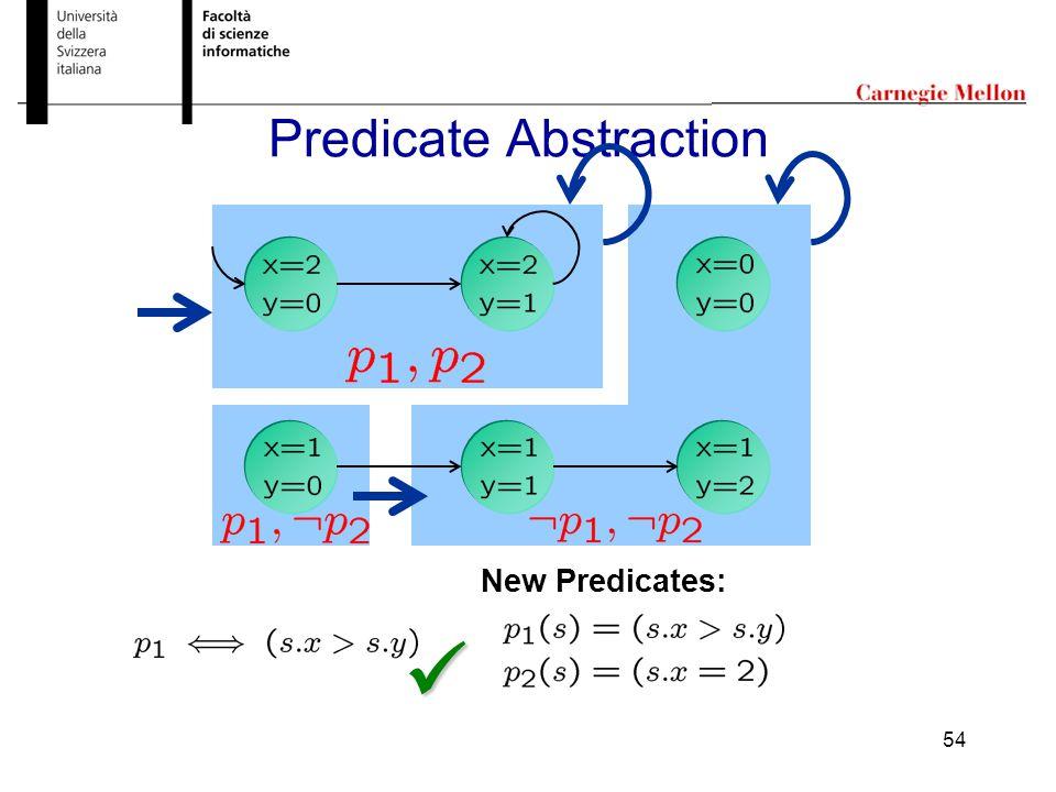 54 Predicate Abstraction New Predicates: