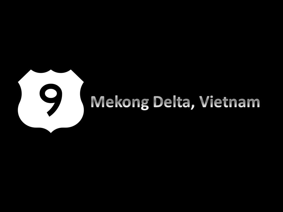 Mekong Delta is the region in southwestern Vietnam where the Mekong River approaches and empties into the sea through a network of distributaries.