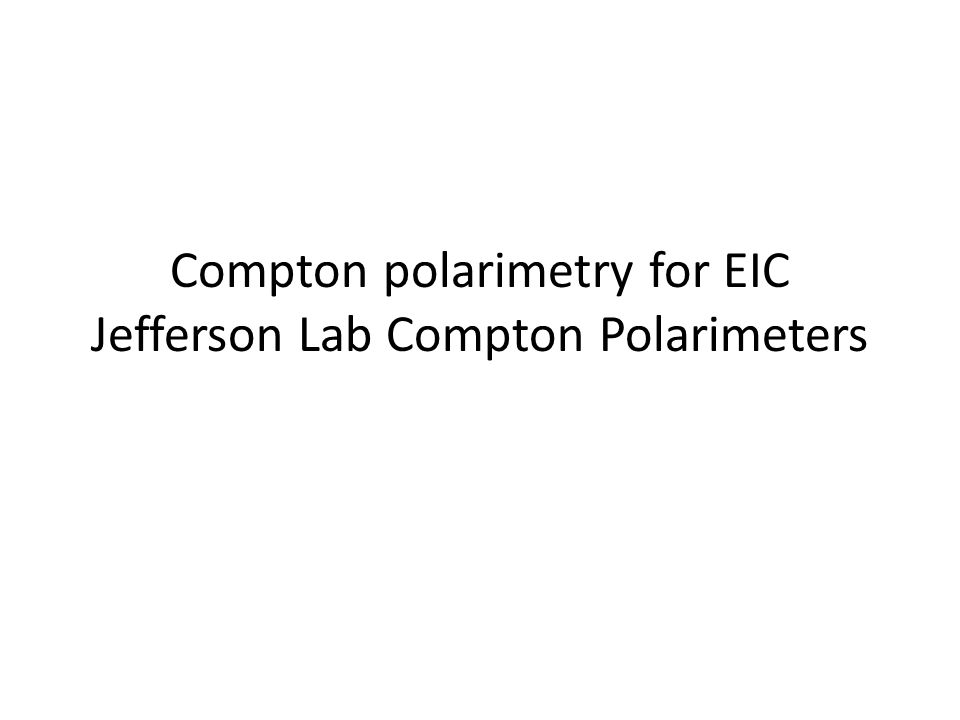 Compton polarimetry for EIC Jefferson Lab Compton Polarimeters