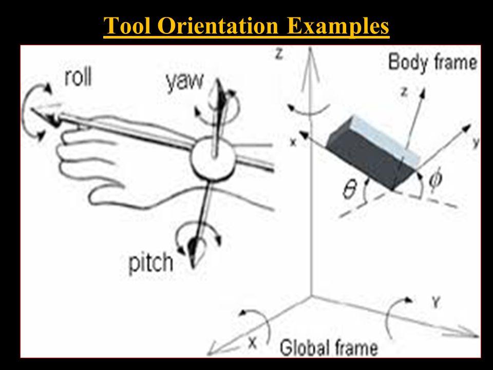 Tool Orientation Examples