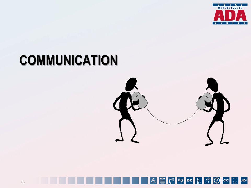 COMMUNICATION 26