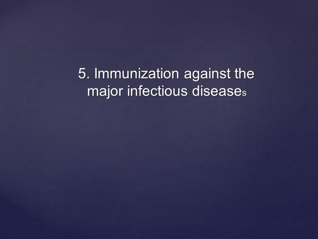 5. Immunization against the major infectious disease s