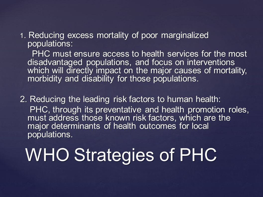 WHO Strategies of PHC 1.