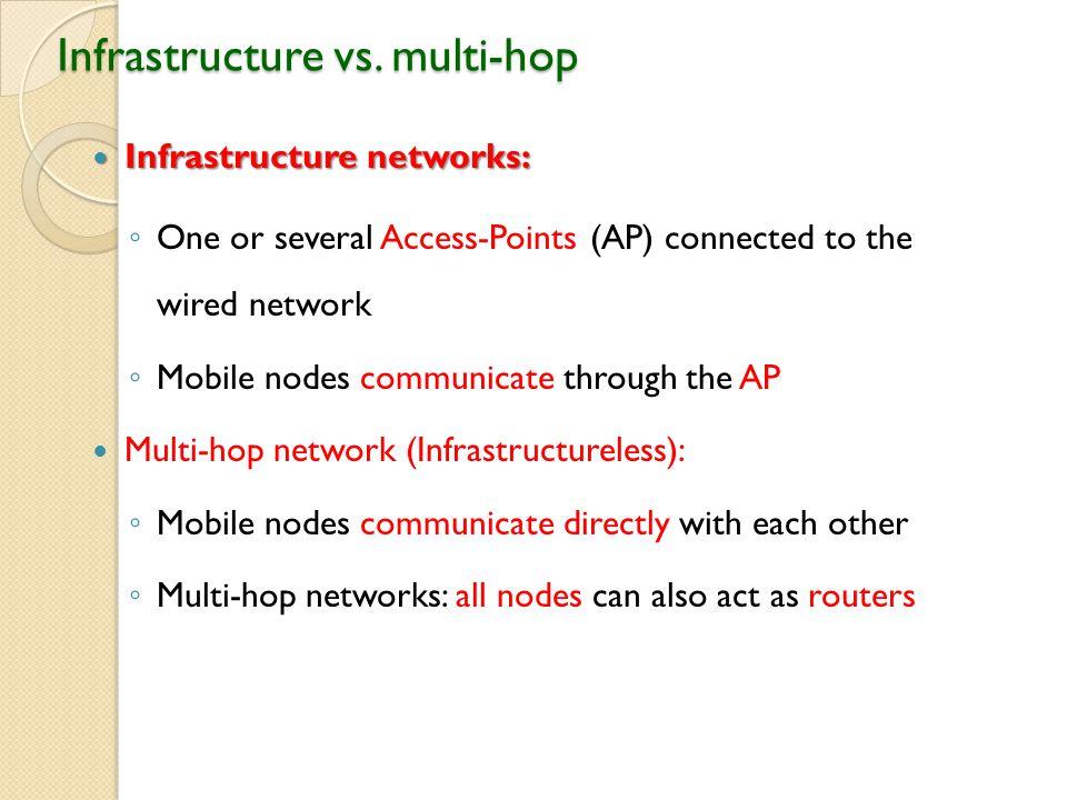 Infrastructure vs.