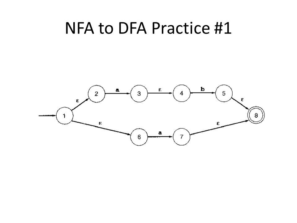 NFA to DFA Practice #1