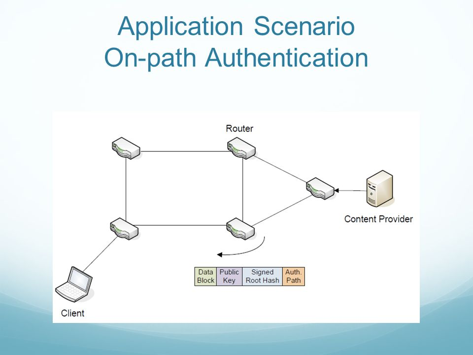 Application Scenario On-path Authentication